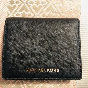 Michael Kors snap close wallet in black